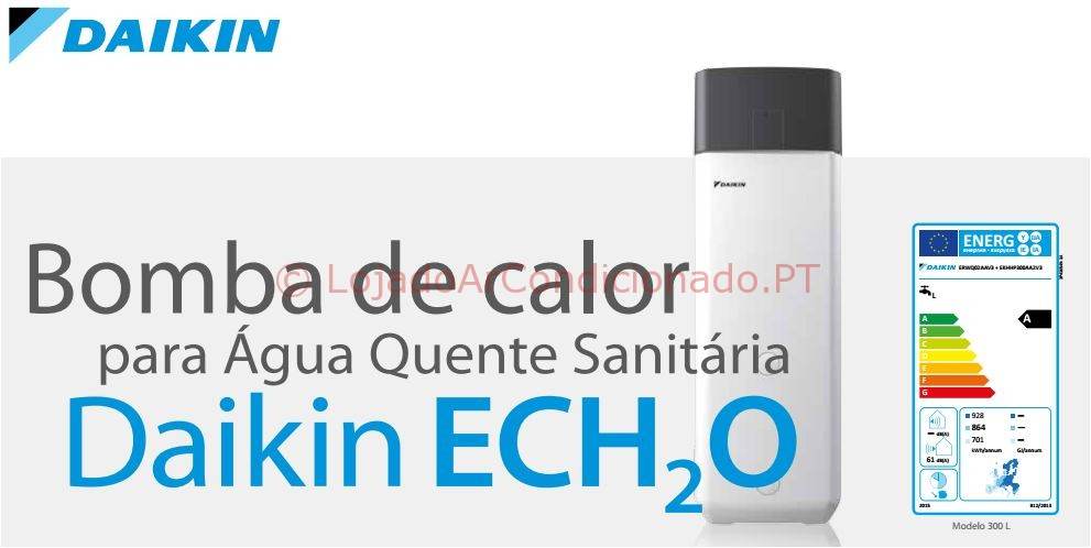 Bomba de calor daikin daikin ech2o aqs loja do ar for Bomba de calor inverter